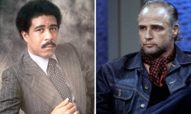 Richard Pryor y Marlon Brando./