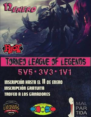Torneo de League Of Legends el sábado 12 de enero