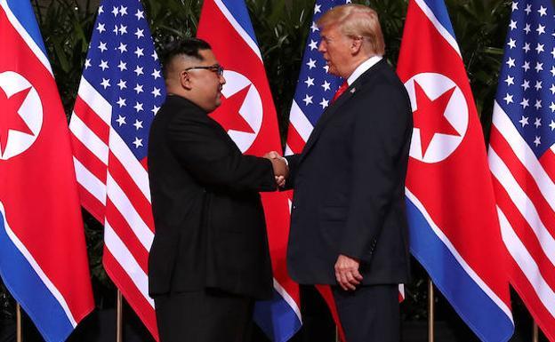 Primera reunión entre Jong-un y Trump. /Jonathan Ernst (Reuters)