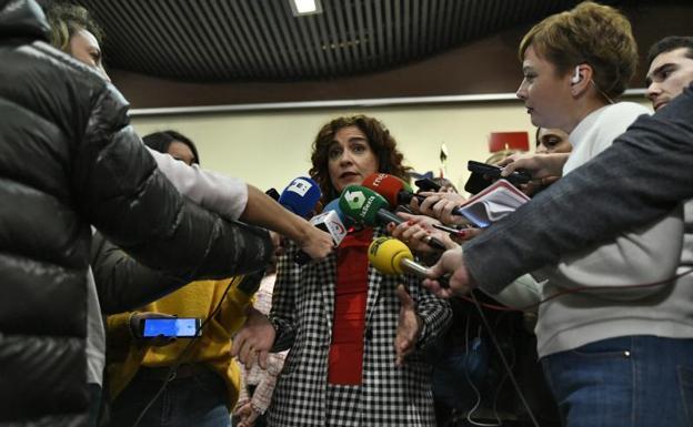 La ministra Montero tras la entrega del premio./EP