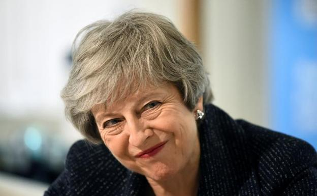 La primera ministra británica, Theresa May./Reuters