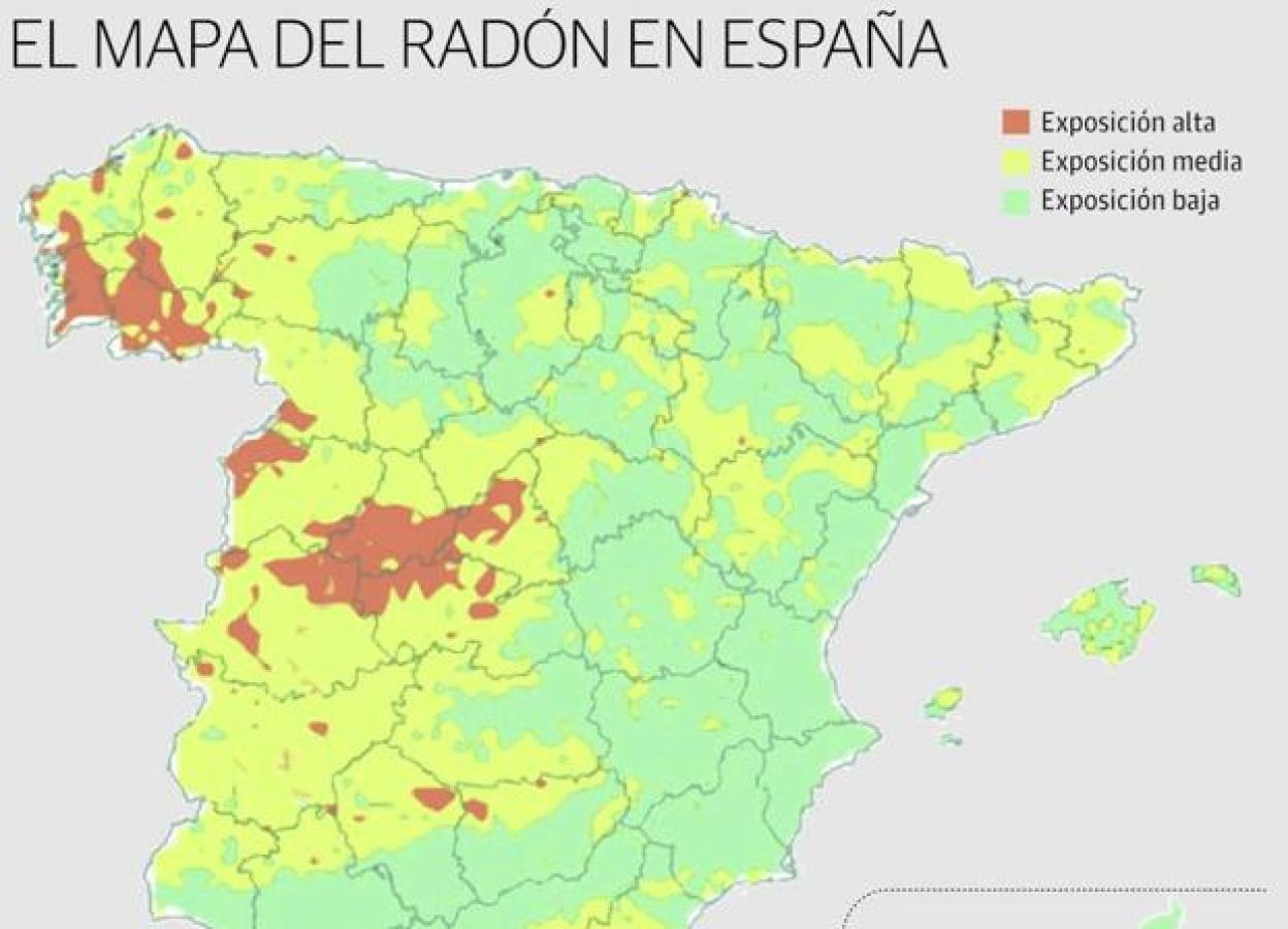 Mapa Del Radon En Espana.Extremadura Hara Frente Al Gas Radon En Viviendas Y Empresas Hoy
