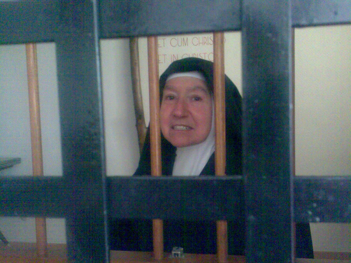 Pilar Adámez, en su convento (Hoy)