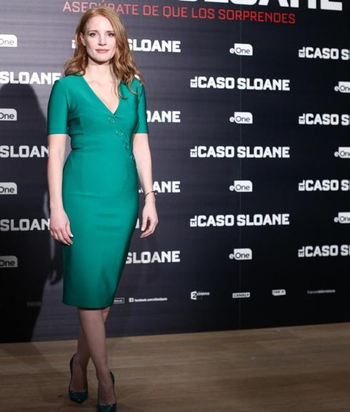 Jessica Chastain, en Madrid.